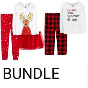 CARTER'S Holiday Pajama Bundle 24M NWT